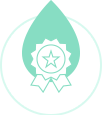 Clearance icon with price badge and water droplet
